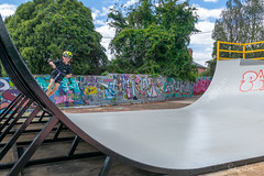 Lucas on the half pipe