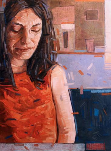 Carla, olio su tela, 50x70 cm, 2019