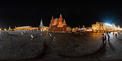 360° | Red square at night