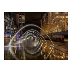 Coal Drops Yard - arched fountain