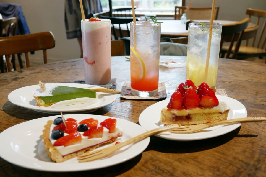 [新竹美食]一百種味道|新竹巨城旁甜點店~獨棟老宅複合式選品店.必嚐新鮮水果塔 @VIVIYU小世界