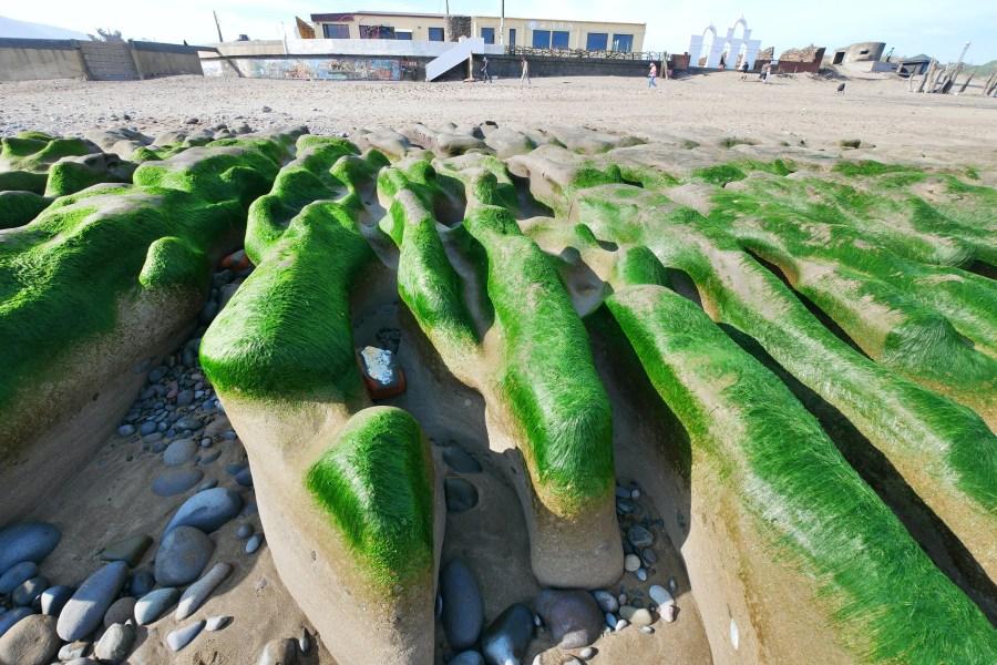 [新北旅遊]老梅綠石槽|每年3~5月限定版綠色地毯~曾被CNN票選為台灣八大祕境之一 @VIVIYU小世界