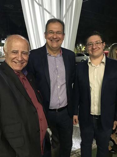 Luis Gonzaga Lage, presidente da CECREMG - Central das Cooperadas, Jadson Guerra e Edgard Pena