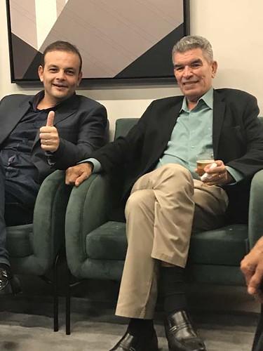 Jadson Heleno, presidente da Câmara de Ipatinga, e o presidente da AAPI, Elias Caetano