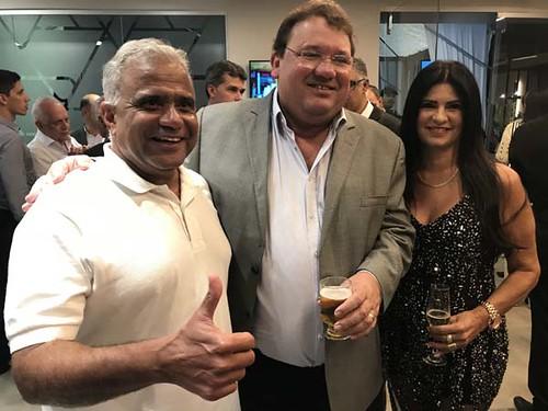 O prefeito Nardyello Rocha, deputado Celinho e Carmen