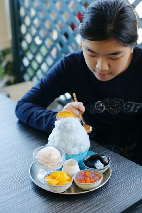 [大園美食]♡冰品特輯♡老。樣子|二訪~刨冰變色好神奇!吃冰邊賞飛機劃過天際 @VIVIYU小世界