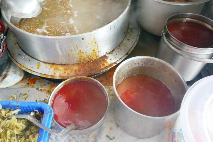 [台中美食]月眉榕樹下豬血湯 月眉糖廠對面后里銅板小吃~綜合豬血湯配料超多! @VIVIYU小世界