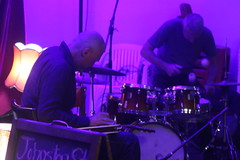 Carl Dewhurst and Simon Barker playing to an empty room and a crowded internet