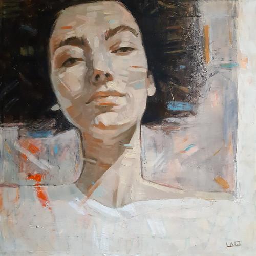 Identità e liberazione, olio su tela, 50x50cm, 2020