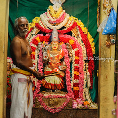 Flower offerings to Goddess Sri Dharmasamvardini