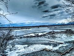 Knik River basin after the snows - Palmer AK