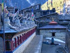 Upper Pisang village. Annapurna Circuit, Nepal 2007