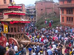 Bhairab's chariot. Bhaktapur, Nepal 2007