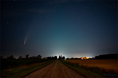 Comet on a Country Road