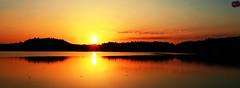 Lake sunrise in France