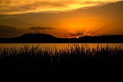 Coucher de soleil au Lac du Pêcher (Cantal)