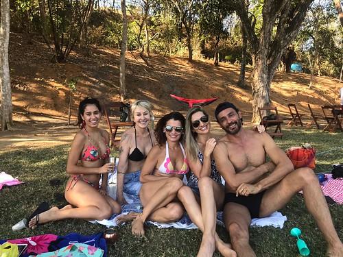 Dalila, Raquel, Andreia, Danielle e Flávio