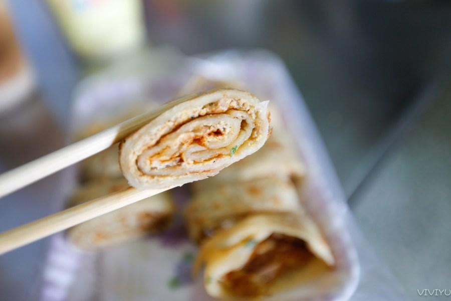 [平鎮美食]忠貞傳統蛋餅|忠貞市場好弄中現做軟Q餅皮‧現擀麵糰眷村味傳統中式早餐 @VIVIYU小世界