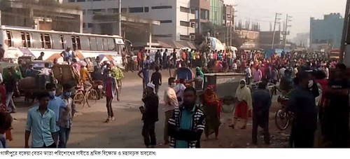 Gazipur-(3)- 07 January 2021-Worker Unrest & Barricade At Sign Board-2