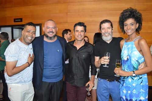 Claudiney Souza, Fabrizio Teixeira, Adão de Faria e sua namorada.