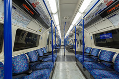 London almost lockdown - Northern line's empty coach