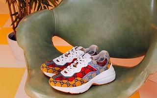 Tênis Gucci feito de materiais recicláveis