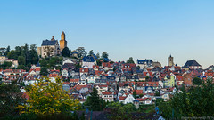 Altstadt von Kronberg im Taunus mit der Burg