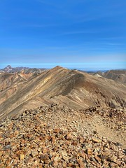 From the summit of Sunshine Peak looking over to Redcloud Peak