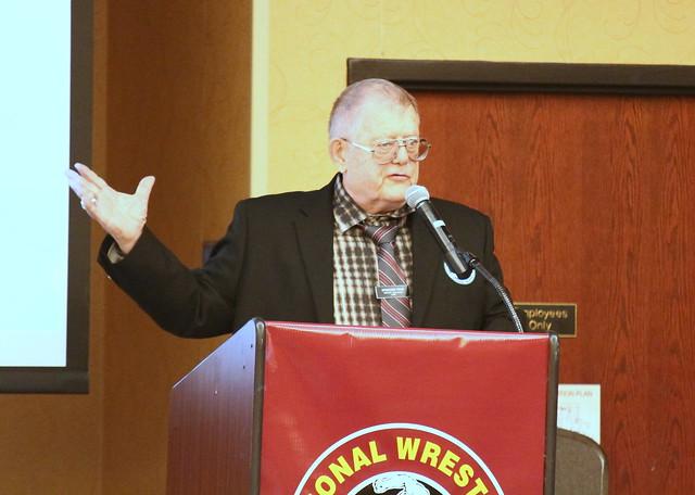 National Wrestling Hall of Fame, Minnesota Chapter President Spencer Yohe. 190427AJF0014
