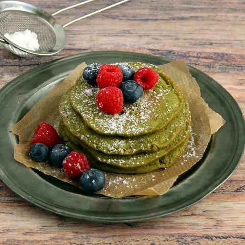 Keto Matcha Mini Pancakes Recipe