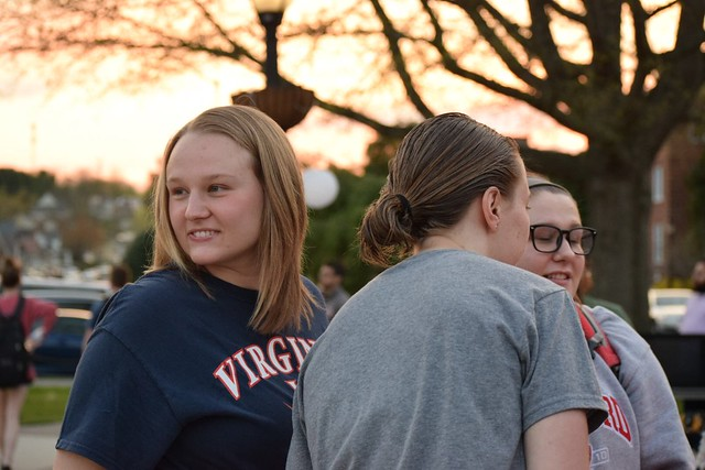 Students socializing at the Junior Twilight