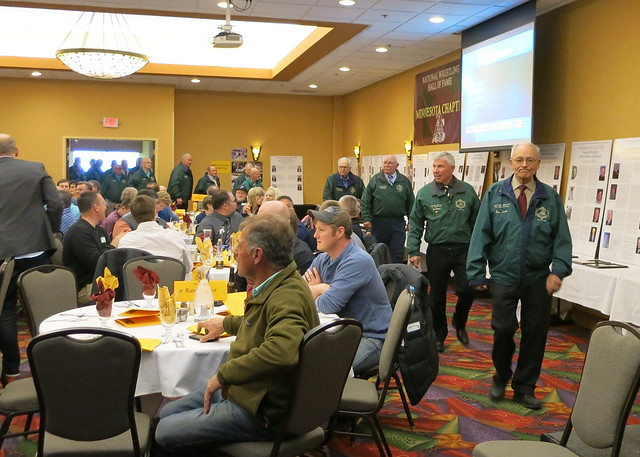2019 National Wrestling Hall of Fame, Minnesota Chapter Parade of Green Jackets. 190427AJF0824