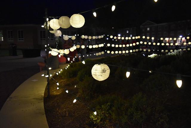 Lanterns at the Junior Twilight event