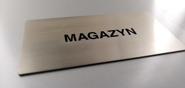 tabliczka ze stali nierdzewnej, grawerowana z emalią, oznaczenie biura (4)