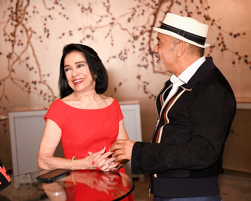 President of FIT Dr. Joyce Brown and Christian Louboutin
