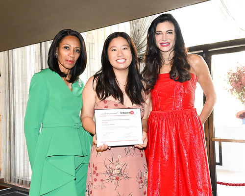Couture Council Board Member Amelia Quist-Ogunlesi, Xin Yi Zhao, and Couture Council Board Member Melissa Mafrige-Mithoff