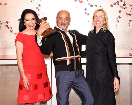 President of FIT Dr. Joyce Brown, Christian Louboutin, and Dr. Valerie Steele