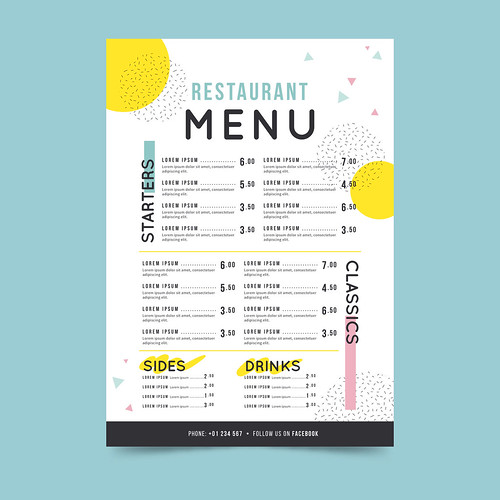 I will design your next elegant restaurant menu or food flyer