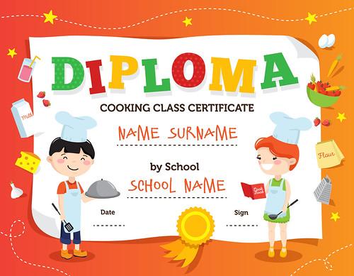 Cooking Class Diploma Design