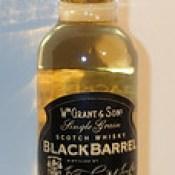 W h Grants & Son's Black barrel single grain scotch whisky