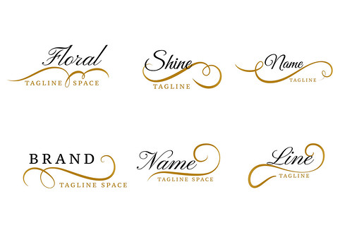 lovely floral ornamental logos collection design set