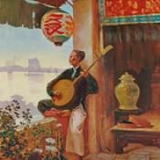 ALBERT CEZARD (French, 1869-circa 1916) - Le Musicien Vietnamien (A Vietnamese Yueqin Player)