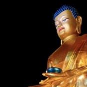 Sikkim - Ralang - Palchen Choeling Monastic Institut (Ralang Monastery) - Sitting Buddha - 52d