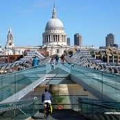 St Paul's Cathedral from the London Millennium Footbridge in London