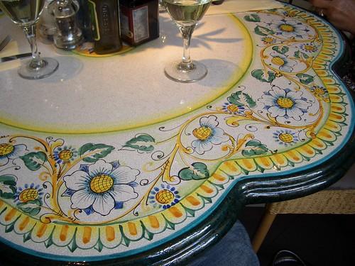 Da Mario's Restaurant table
