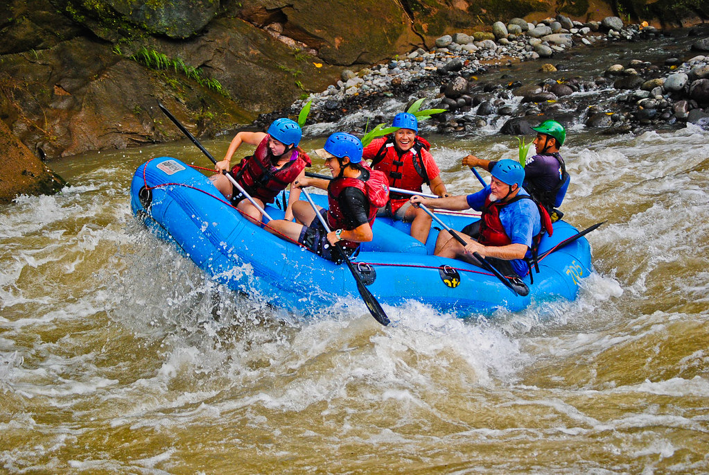 White water rafting on the Balsa River, Costa Rica
