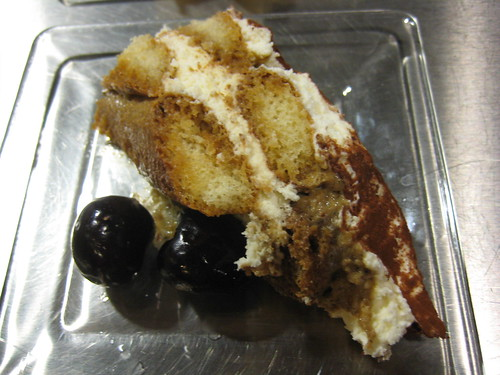 tiramisu with ricotta cheese and cherry wine