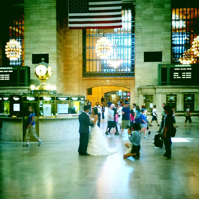 Bride & groom, Grand Central Station