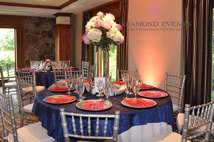 Wedding Table setting at the Virginia Tech German Club