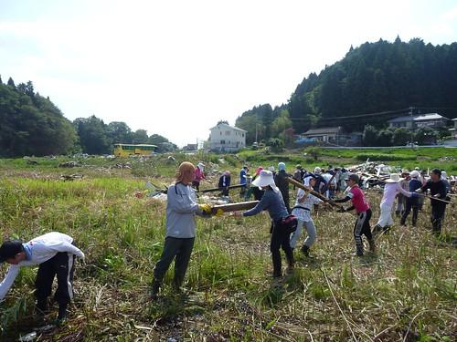 陸前高田市広田町羽根穴, 陸前高田でボランティア Volunteer at Rikuzentakata, Iwate pref, Deeply Damaged Area by Japan Quake